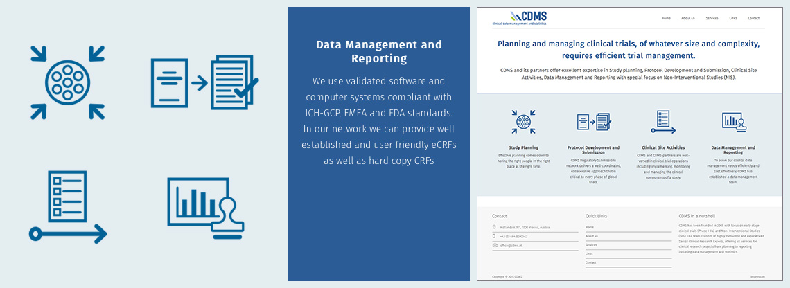 CDMS – clinical data management and statistics